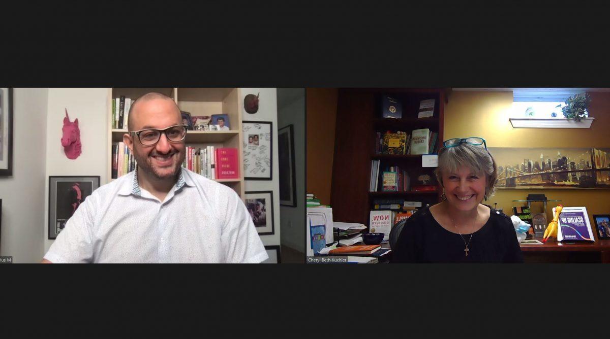 Darius Mirshahzadeh and Cheryl Beth Kuchler